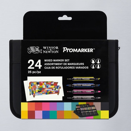 Winsor & Newton ProMarker Mixed Set of 24 | Cass Art