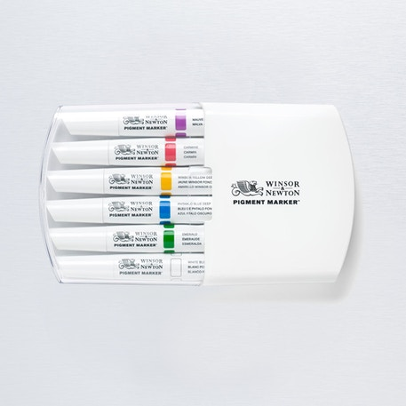Winsor & Newton Pigment Marker Rich Tones Set of 6 | Cass Art