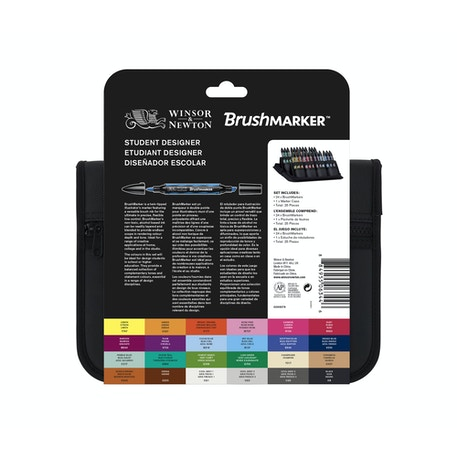Winsor & Newton Brush Marker Student Designer Wallet Set of 24 | Cass Art