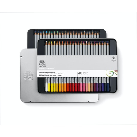 Winsor & Newton Studio Collection Coloured Pencils Set of 48 | Cass Art