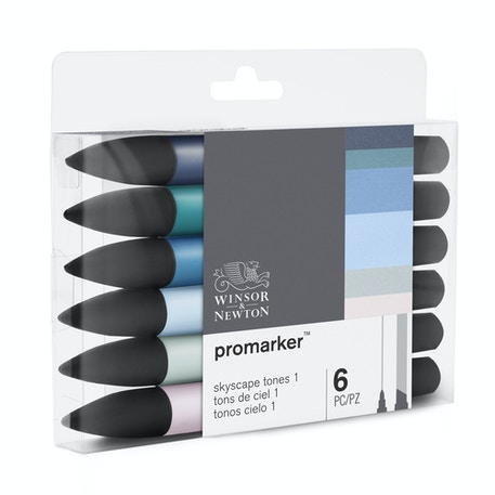 Winsor & Newton ProMarker Skyscape Tones 1 Set of 6 | Cass Art