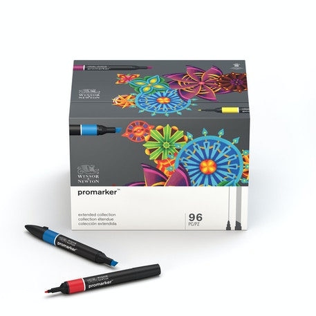 Winsor & Newton ProMarker Extended Collection Set of 96 | Cass Art