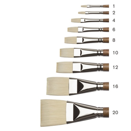 Winsor & Newton Professional Oil Synthetic Hog Flat Brushes