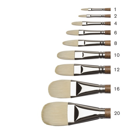 Winsor & Newton Professional Oil Synthetic Hog Filbert Brushes