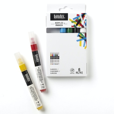 Liquitex Fine Marker Set of 6 | Cass Art