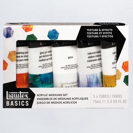 Liquitex Basics Acrylic Mediums 75ml Set of 5 | Cass Art