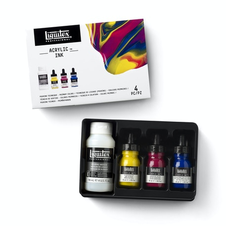 Liquitex Professional Ink Pouring Technique Primary Colours Set of 4 | Cass Art