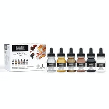 Liquitex Professional Acrylic Ink 30ml Metallic Set of 6