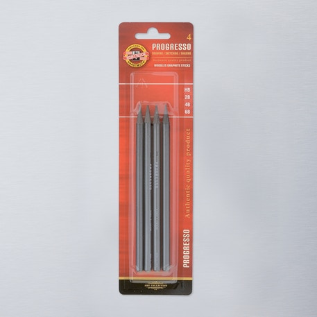 Koh-i-noor Woodless Graphite Pencils Set of 4 | Cass Art