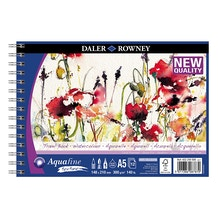 Daler Rowney Aquafine Watercolour Spiral Travelbook Cold Pressed A5