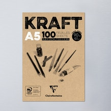 Clairefontaine Glued Pad Kraft 90g 100 Sheets