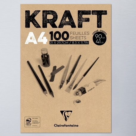 Clairefontaine Glued Pad Kraft 90g 100 Sheets | Cass Art