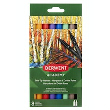 Derwent Academy Twin-Tip Markers Set of 8