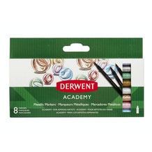 Derwent Academy Metallic Markers Set of 8