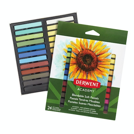 Derwent Academy Soft Pastels Set of 24 | Cass Art