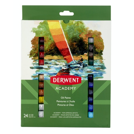 Derwent Academy Oil Paints 12ml Set of 24 | Cass Art