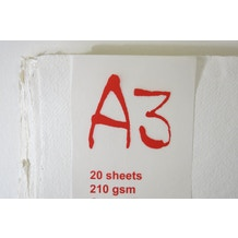 Khadi White Paper 210gsm A3 Pack of 20