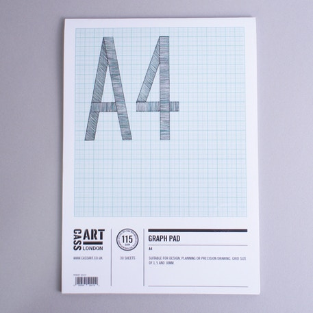 Cass Art Graph Pad 115gsm 30 sheets A4 | Cass Art