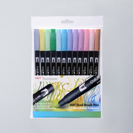 Tombow Dual Brush Pens Pastel Set of 12 | Cass Art