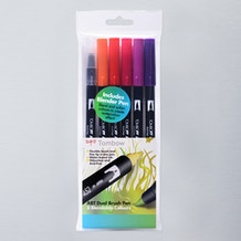 Tombow Dual Brush Pens Sunset Set of 6