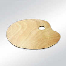 Colourfull Arts Wooden Oval Palette Large