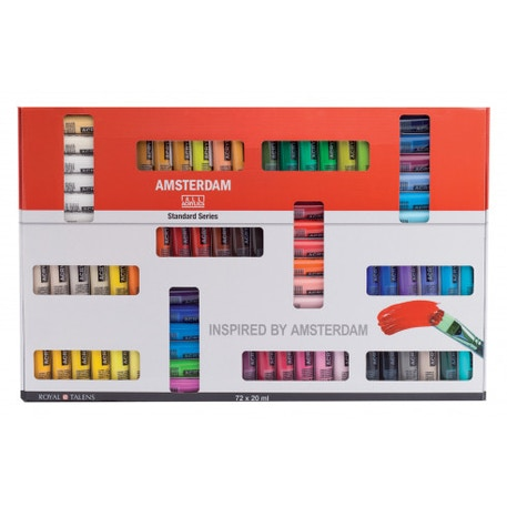 Amsterdam Standard Series Acrylic Paints Set of 72 x 20ml | Cass Art