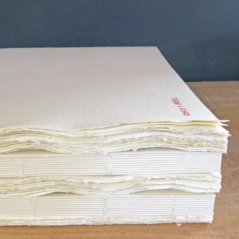 Khadi Block Book 210gsm Smooth 40 pages 21 x 25cm | Cass Art