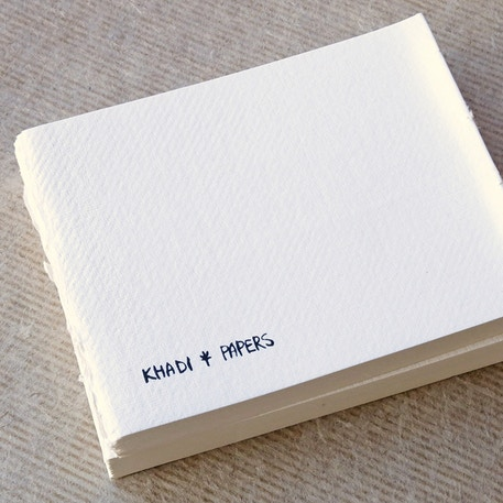 Khadi Bound Page 210gsm Smooth 32 Page 13 x 16cm White | Cass Art