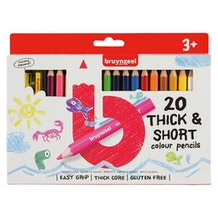 Bruynzeel Kids Thick & Short Colour Pencils Set of 20