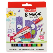 Bruynzeel Kids Magic Felt Tip Pens Set of 8