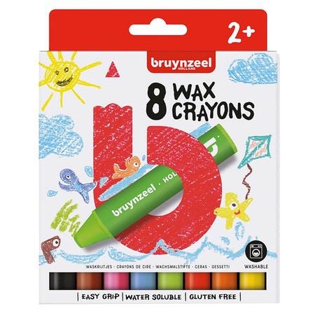 Bruynzeel Kids Wax Crayons Set of 8 | Cass Art