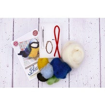 The Crafty Kit Company Felt Your Own Blue Tit Needle Felting Craft Kit