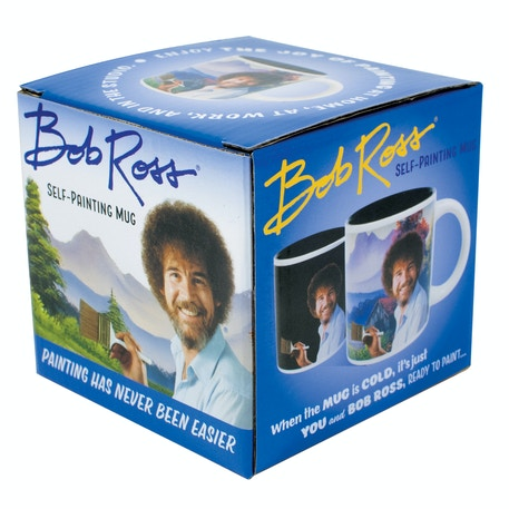 Bob Ross Heat Changing Self-Painting Mug | Cass Art