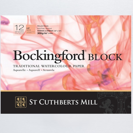 Bockingford Watercolour Paper Block Hot Pressed 300gsm 12 Sheets | Cass Art