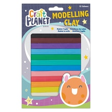 Craft Planet Kids Modelling Clay Set of 12 Colours