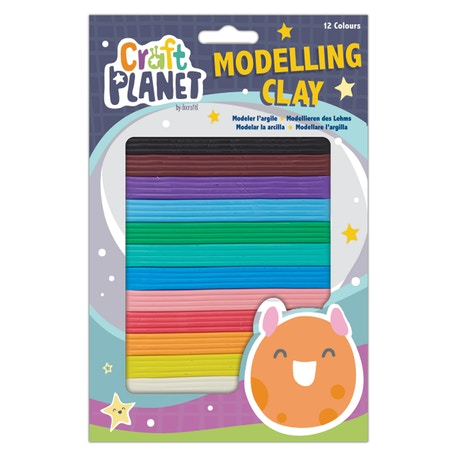 Craft Planet Kids Modelling Clay Set of 12 Colours | Cass Art
