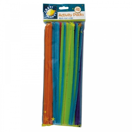Craft Planet Chenille Stems Neon Colours Pack of 60 | Cass Art