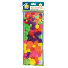 Craft Planet Neon Pompoms Pack of 100