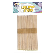 Craft Planet Extra Large Natural Lollipop Sticks