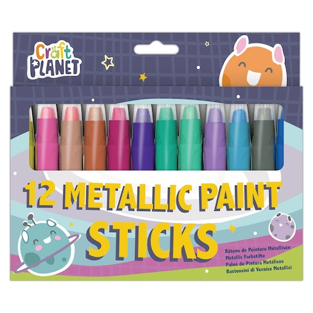 Craft Planet Metallic Paint Sticks Set of 12 | Cass Art
