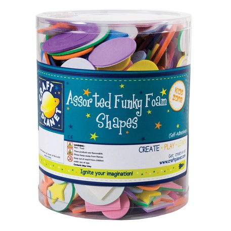 Craft Planet Assorted Funky Foam Shapes Tub | Cass Art