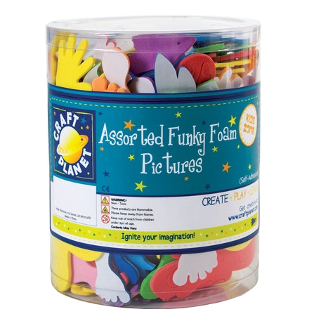 Craft Planet Assorted Funky Foam Pictures Tub | Cass Art