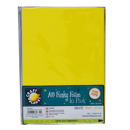 Craft Planet Funky Foam Sheet 2mm | Cass Art