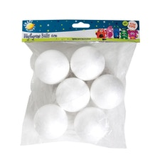 Craft Planet Polystyrene Balls Pack of 6