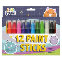 Craft Planet Bright Paint Sticks Set of 12