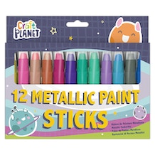 Craft Planet Metallic Paint Sticks Set of 12