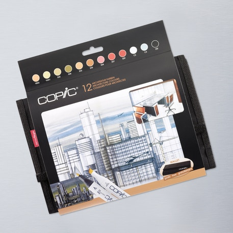 Copic Original Marker Architecture Wallet Set of 12 | Cass Art