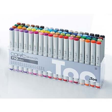 Copic Sketch Markers Set A Set of 72 | Cass Art