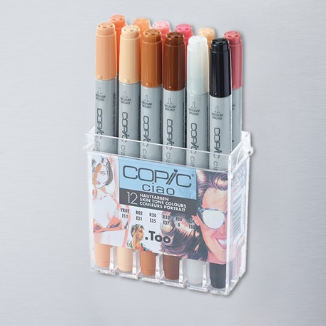 Copic Ciao Markers Skin Tone Set of 12 | Cass Art