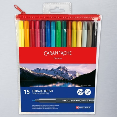 Caran D'ache Fibralo Brush Set of 15 | Cass Art